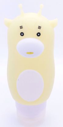 Buy Refillable Silicone Travel Beauty Bottle with Suction Cup - Yellow Giraffe